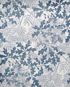 Marthe Armitage 'Oakleaf' wallpaper - http://hamiltonweston.com/wallpapers/ranges/marthe-armitage-designs/