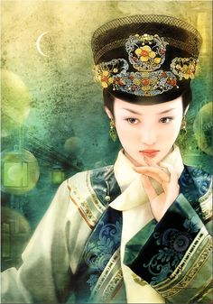 Chinese painting of beautiful woman :