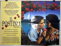 IL POSTINO -MASSIMO TROISI/MARIA GRAZIA CUCINOTTA- ORIGINAL UK QUAD MOVIE POSTER
