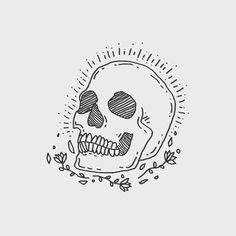 Find images and videos about art, grunge and text on We Heart It - the app to get lost in what you love. Cute Drawings, Tattoo Drawings, Body Art Tattoos, Skull Drawings, Handpoked Tattoo, Image Deco, Skull Illustration, Skeleton Art, Flash Art