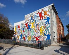 Keith Haring Mural - We The Youth - Restored in Philadelphia, PA - 22nd & Ellsworth Streets