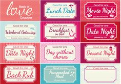 valentine's day iou coupons