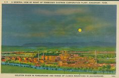 Night view of Tennessee Eastman Company