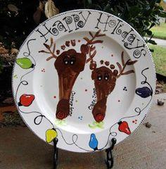 Bing : footprint plate christmas