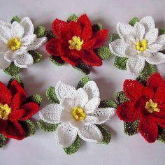 flores crochê