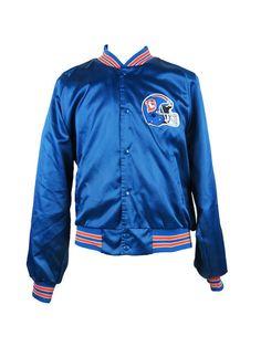 482138de1ed2 NFL Denver Broncos Vintage Starter Jacket Blue Satin Vtg 90s M L Large Mint