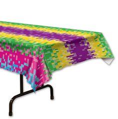 Tovaglia di plastica 8 bit da 137 x 274 cm su VegaooParty, negozio di articoli per feste. Scopri il maggior catalogo di addobbi e decorazioni per feste del web,  sempre al miglior prezzo!