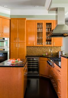 Modern kitchen - contemporary - kitchen - boston - K.Marshall Design Inc. Kitchen Cabinet Colors, Cabinet Decor, Kitchen Colors, Kitchen Cabinets, Cabinet Design, Kitchen Sink, Home Decor Kitchen, Interior Design Kitchen, Home Kitchens