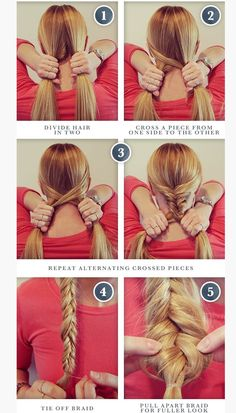 Fishtail Braid Natural Hair Styles french braid styles for natural hair Fishtail Braid Hairstyles, Braided Hairstyles Tutorials, Box Braids Hairstyles, Cute Hairstyles, Easy Fishtail Braid, Fishtail Braid Tutorials, Braided Updo, Updo Hairstyle, Wedding Hairstyles