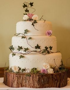 Like the ivy leaves they could be wired and white with silver stems and frosted glittery  -  twine like draped around the cake? What do you think Mrs Ashton to be?