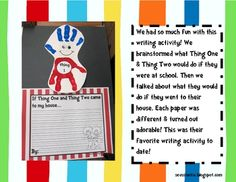 Thing 1 & Thing 2 Craft/Writing activity!