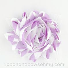 Ribbon And Bows Oh My! Orchid <3 17 colors of #chevron Shabby Chiffon Flowers! #chiffonflower #shabbychic #radiantorchid #orchid #pantone