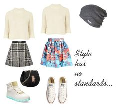 """""""Style Has No Standards."""" by amaiyacrissfollowsback ❤ liked on Polyvore featuring Bebe, Topshop, Jill Stuart, Alice + Olivia, Converse, Neff, women's clothing, women, female and woman"""