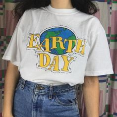 Earth Day Aesthetic Women Girl's T shirt Fashion Street Style Plus size Summer Cotton Cute Tops&Tees Hipster Aesthetic T Shirts, Aesthetic Women, Aesthetic Fashion, Aesthetic Clothes, 90s Aesthetic, Aesthetic Vintage, Indie Outfits, Retro Outfits, Cute Outfits