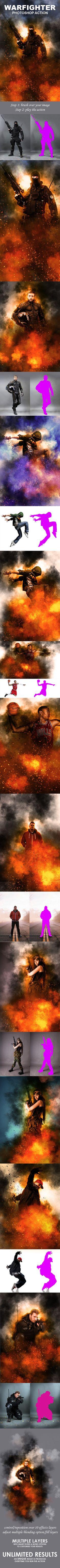 Warfighter Photoshop Action #photoeffect Download: http://graphicriver.net/item/warfighter-photoshop-action/13952470?ref=ksioks