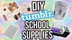 Back to School: DIY School Supplies!! Tumblr Inspired
