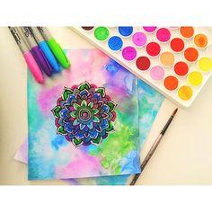 Hey guys! Multicoloured mini mandala -♡- I hope you guys like this drawing…