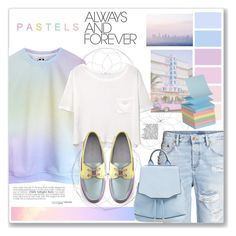 """""""Pastels!!"""" by artemisia-art ❤ liked on Polyvore featuring MANGO, rag & bone and The Cambridge Satchel Company"""