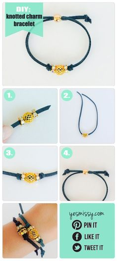 DIY: Knotted Charm Bracelet: