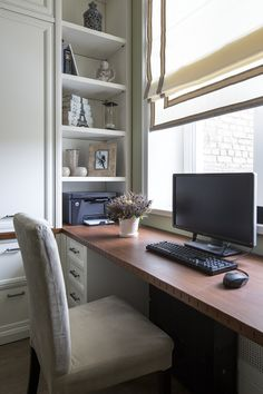 60 Trendy home office desk built in interior design Guest Room Office, Home Office Space, Home Office Desks, Office Decor, Guest Rooms, Office Ideas, Office Built Ins, Built In Desk, Small Space Bedroom