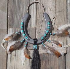 DECORATED Horseshoes Horse Shoes Native door EECustomHorseShoes