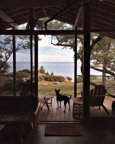 A modern wooden house with a yard and a view over the sea. Modern Wooden House, Cabin In The Woods, Fancy Houses, Ootd, Cozy Cabin, Slow Living, Land For Sale, Perfect Photo, Home Interior