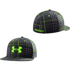 Under Armour Men's Forged Plaid Stretch Fit Golf Hat - Dick's Sporting Goods the black