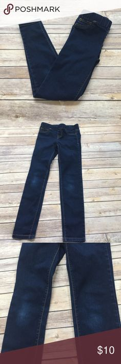 Girls Denim Jegging Preloved.  No rips, stains or tears noted.  Minimal weather to knees.  Pull on style, elastic waist, not adjustable. Bundle and save! Cat & Jack Bottoms Jeans