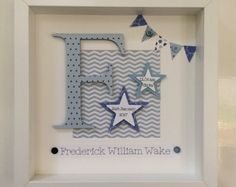 Personalised baby boy gift - new baby gift - christening gift - toddler gift - personalised paper art - nursery wall art - boy room