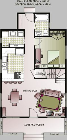 tiny house floor plans | ... storey small country cottage house floor plan by Home Concepts #tinyhomeplanssmallcottages #tinyhouseplanssmallcottages