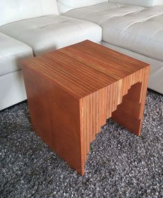 Table  Side  mid century modern  HANDMADE HAND MADE  INDUSTRIAL SALVAGE  TEAK WOOD DESIGN METALLIC GOLD  MODERNISM CUBE  PLYWOOD STAIN  BED SIDE TABLE  NIGHT STAND  SMALL COFFEE TABLE MINIMAL NIGHTSTAND  STRIP END TABLE  MODERN ENDTABLE