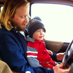 Liam getting to drive on our back road. Awesome morning with mommy and son.