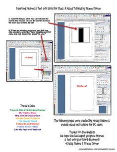 Mrs. Orman's Classroom: How to Insert Frames, Borders, or Clip Art into a Microsoft Word Document