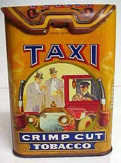 Taxi Crimp Cut Tobacco Tin