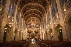 magnificent church #architecture | #wedding photography | #ceremony at #Rosary Cathedral in Toledo, OH