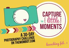 "Join us for a 30-day photography challenge called ""Capture the Little Moments"" - it will have you documenting life in a new way for 2014 through pictures & words! 