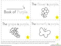 Worksheets: The Color Purple  what 2 colors mix to make purple?