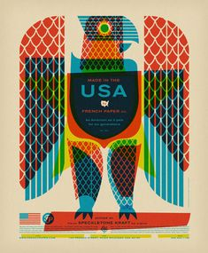 French Paper USA - great offset poster.