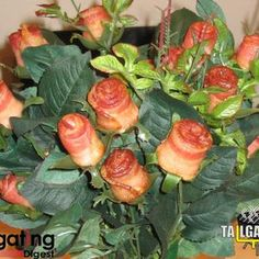 Bacon Roses – A Tailgating Valentine's Day Idea    2 funny!  @CABernet Hubler I think you should ask for this kind of bouquet for V-day