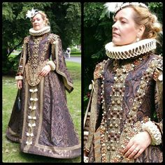 Reproduction of Isabelle de Bourbon's Spanish Saya, ca. 1620. Made by Angela Mombers