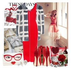 """""""Late Valentine's look"""" by moni4e ❤ liked on Polyvore featuring Shrimps, T By Alexander Wang, Kate Spade, National Tree Company, Nearly Natural, Swarovski and Nayequiros"""