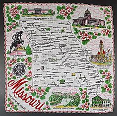 Souvenir hankie from Missouri