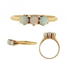 Antique Victorian Opal Trilogy Ring, $324.00