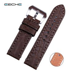 >> Click to Buy << High Quality Genuine Leather Sheep Skin Watchband Handmade Leather Watchband Lichee Pattern Watch Bracelet  24mm #Affiliate