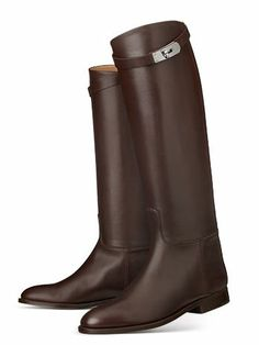 Hermes riding boot in black or brown