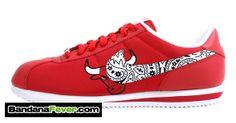 so cute Nike Cortez Rouge, Nike Shoes, Shoes Heels, Sneakers Nike, Bandana Styles, Red Bandana, Houston Rockets, Shoe Game, Nike Free