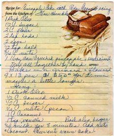 Fun Baking Recipes, Cake Mix Recipes, Retro Recipes, Old Recipes, Vintage Recipes, Cookbook Recipes, Family Recipes, Cake Icing, Honey