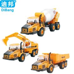Metal Alloy Car Model Toy Excavators Engineering Truck Excavators Cement Concrete Mixer Car Toy Dumpers Diecast Hauler A059 #Affiliate