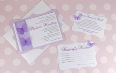 Butterfly theme Invitation - Butterfly theme shower - Butterfly theme wedding on Etsy