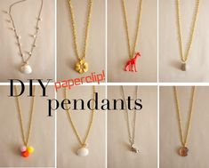 make your own pendants using a paperclip!